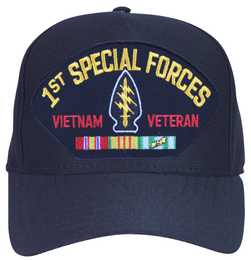 1st Special Forces Vietnam Veteran with Patch and Ribbons Ball Cap