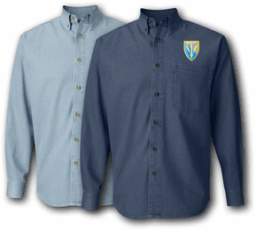 201st Mil Intelligence Brigade Denim Shirt