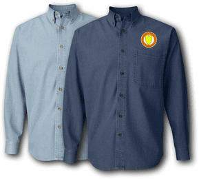 24th Mechanized Infantry Division Unit Crest Denim Shirt