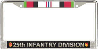 25th Infantry Division Afghanistan License Plate Frame