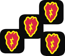 25th Infantry Division  Coasters - Set of 4