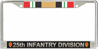 25th Infantry Division Iraq License Plate Frame