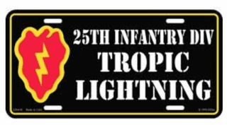 25th Infantry Division License plate
