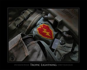 25th Infantry Division - Tropic Lightning - Giclee Print