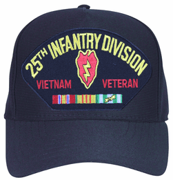 25th Infantry Division Vietnam Veteran with Patch and Ribbons Ball Cap