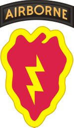 25th Infantry Division with Airborne Tab Decal
