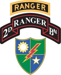 2nd Battalion, 75th Ranger Regiment With Ranger Tab Decal