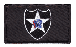 2nd Infantry Hook and Loop Black Patch