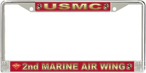 2nd Marine Air Wing License Plate Frame