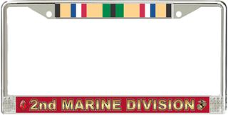 2nd Marine Division Gulf War Veteran License Plate Frame