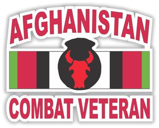 34th Infantry Division Combat Veteran with Afghanistan Ribbon Decal