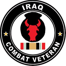 34th Infantry Division Combat Veteran with Ribbon Operation Iraqi Freedom OIF Decal Sticker