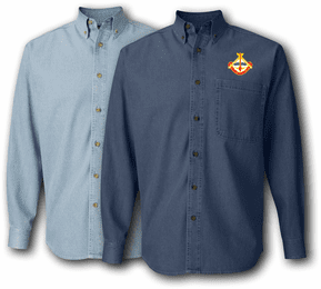 35th Engineering Brigade UC Denim Shirt