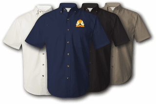 35th Signal Brigade UC Twill Button Down Shirt