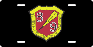 3rd Battalion 9th Marines License Plate