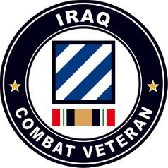 3rd Division Operation Iraqi Freedom Combat Veteran Decal Sticker