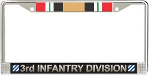 3rd Infantry Division Iraq Veteran Service Ribbon License Plate Frame