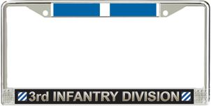 3rd Infantry Division Korea Veteran Service Ribbon License Plate Frame
