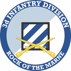 3rd Infantry Division with Crossed Rifles Decal