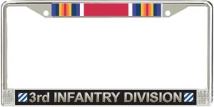 3rd Infantry Division WW2 Veteran Service Ribbon License Plate Frame