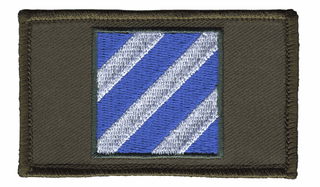 3rd Infantry Hook and Loop OD Green Patch