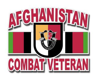3rd Special Forces Group Afghanistan Combat Veteran Decal