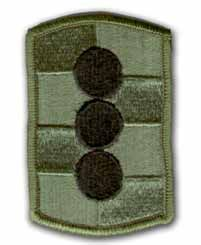 "434TH FIELD ARTILLERY BRIGADE  3"" SUBDUED MILITARY PATCH"