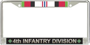 4th Infantry Division Afghanistan Veteran Service Ribbon License Plate Frame