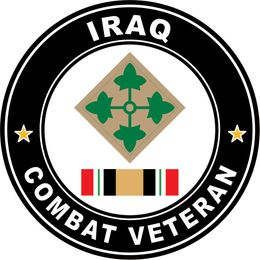 4th infantry Division Sticker Iraq Combat Veteran Operation Iraqi Freedom OIF Decal Sticker