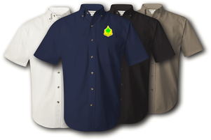 4th Infantry Division Unit Crest Twill Button Down Shirt