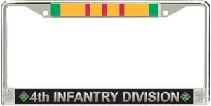 4th Infantry Division Vietnam Veteran Service Ribbon License Plate Frame
