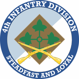 4th Infantry Division with Crossed Rifles Decal