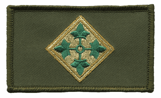4th Infantry Hook and Loop OD Green Patch
