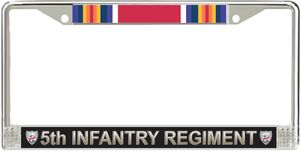 5th Infantry Regiment WW2 Veteran License Plate Frame