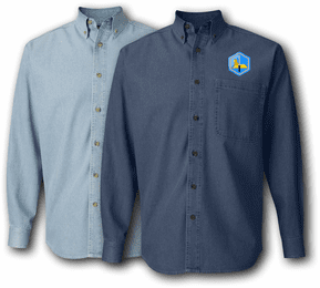 66th Mil Intelligence Brigade Denim Shirt