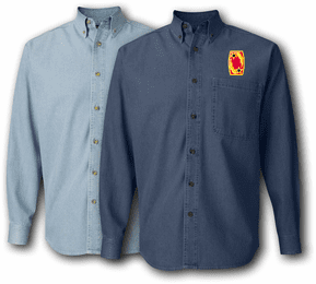 69th Air Defense Artillery Brigade Denim Shirt
