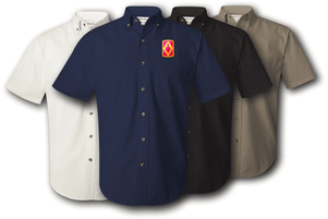 75th Field Artillery Brigade Twill Button Down Shirt