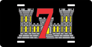 7th Engineer Support Battalion License Plate