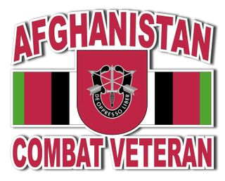 7th Special Forces Group Afghanistan Combat Veteran Decal