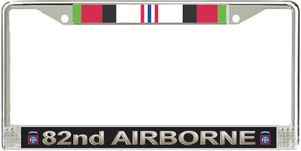 82nd Airborne Division Afghanistan Veteran Service Ribbon License Plate Frame