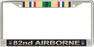 82nd Airborne Division Gulf War Veteran Service Ribbon License Plate Frame
