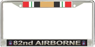 82nd Airborne Division Iraq Veteran Service Ribbon License Plate Frame