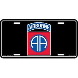 82nd Airborne Division License Plate
