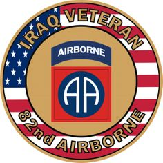 82nd Airborne Iraq Veteran Decal Sticker