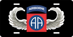 82nd Airborne Jump Wings License Plate