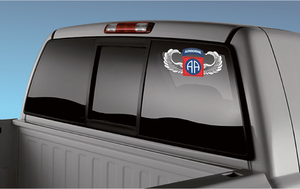 82nd Airborne Jump Wings Sticker Decal