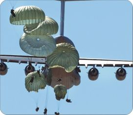 82nd Airborne Paratroopers Mouse Pad