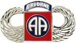 82nd Airborne Wings Lapel Pin (1-1/2 inch)