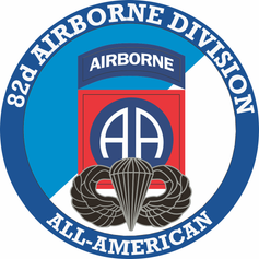 82nd Airborne with Jump Wings Decal