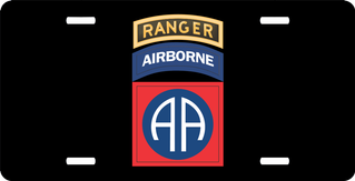 82nd Airborne with Ranger Tab License Plate